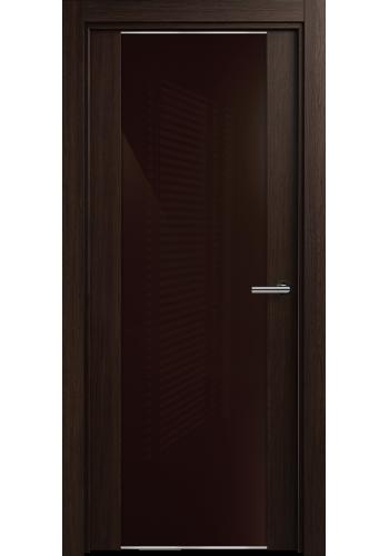 Двери Статус 423 Орех стекло Лакобель коричневое