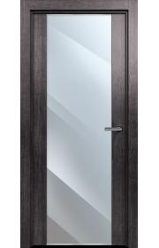 Двери Статус 423 Пепельный венге стекло Лакобель черное