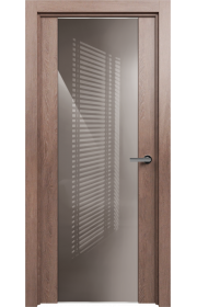 Двери Статус 423 Дуб капучино стекло Лакобель капучино