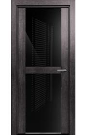 Двери Статус 422 Пепельный венге стекло Лакобель черное