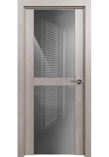 Двери Статус 422 Дуб серый стекло Лакобель серое