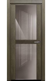 Двери Статус 422 Дуб винтаж стекло Лакобель капучино