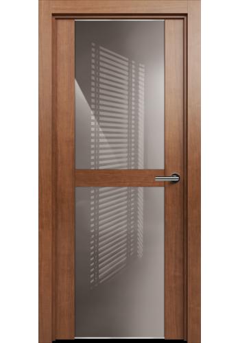 Двери Статус 422 Анегри стекло Лакобель бежевое