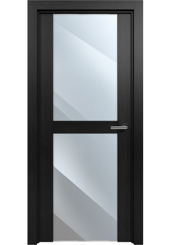 Двери Статус 422 Дуб черный стекло Зеркало