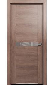 Двери Статус 411 Дуб капучино стекло Лакобель капучино