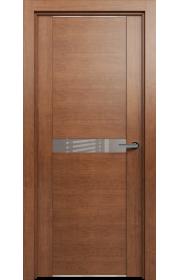 Двери Статус 411 Анегри стекло Лакобель бежевое