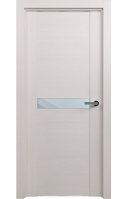 Двери Статус 411 Дуб белый стекло Зеркало