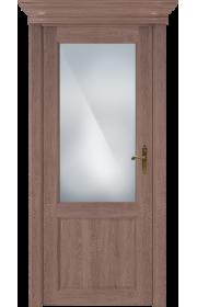 Двери Статус 521 Дуб капучино стекло Сатинато белое матовое