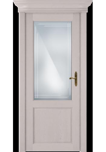 Двери Статус 521ГР Дуб белый стекло Грань