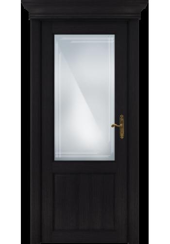 Двери Статус 521ГР Дуб черный стекло Грань