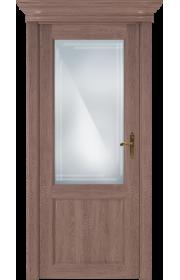 Двери Статус 521ГР Дуб капучино стекло Грань