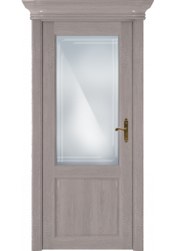 Двери Статус 521ГР Дуб серый стекло Грань