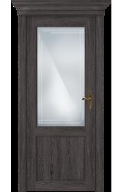 Двери Статус 521ГР Дуб патина стекло Грань