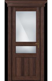 Двери Статус 533 Орех стекло Сатинато белое матовое