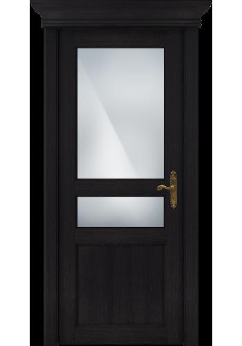 Двери Статус 533 Дуб черный стекло Сатинато белое матовое