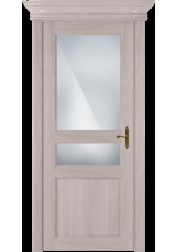 Двери Статус 533 Ясень стекло Сатинато белое матовое
