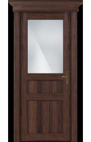 Двери Статус 532 Орех стекло Сатинато белое матовое