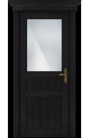 Двери Статус 532 Дуб черный стекло Сатинато белое матовое