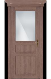 Двери Статус 532 Дуб капучино стекло Сатинато белое матовое