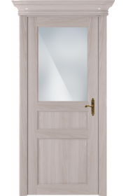 Двери Статус 532 Ясень стекло Сатинато белое матовое