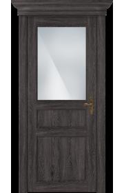 Двери Статус 532 Дуб патина стекло Сатинато белое матовое