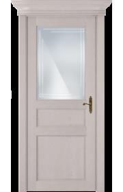 Двери Статус 532ГР Дуб белый стекло Грань