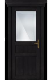 Двери Статус 532ГР Дуб черный стекло Грань