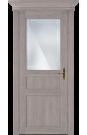Двери Статус 532ГР Дуб серый стекло Грань