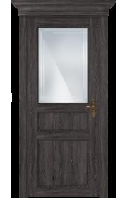 Двери Статус 532ГР Дуб патина стекло Грань