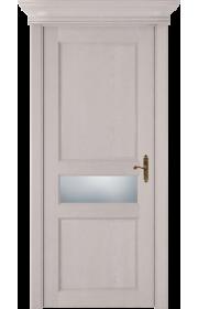 Двери Статус 534 Дуб белый Сатинато белое матовое