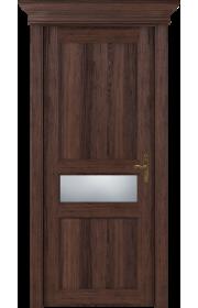 Двери Статус 534 Орех стекло Сатинато белое матовое