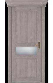Двери Статус 534 Дуб серый стекло Сатинато белое матовое