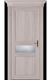 Двери Статус 534 Ясень стекло Сатинато белое матовое