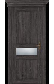 Двери Статус 534 Дуб патина стекло Сатинато белое матовое