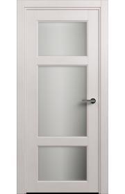 Двери Статус 542 Дуб белый стекло Сатинато белое матовое