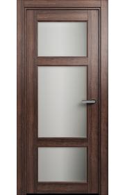Двери Статус 542 Орех стекло Сатинато белое матовое