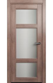 Двери Статус 542 Дуб капучино стекло Сатинато белое матовое