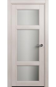 Двери Статус 542 Ясень стекло Сатинато белое матовое