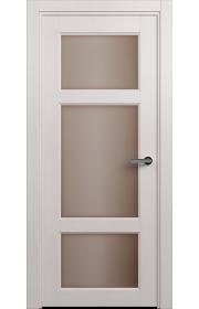 Двери Статус 542 Дуб белый стекло Сатинато бронза