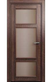 Двери Статус 542 Орех стекло Сатинато бронза