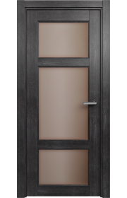 Двери Статус 542 Дуб черный стекло Сатинато бронза