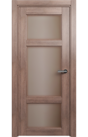 Двери Статус 542 Дуб капучино стекло Сатинато бронза