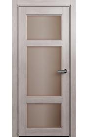 Двери Статус 542 Дуб серый стекло Сатинато бронза