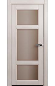 Двери Статус 542 Ясень стекло Сатинато бронза