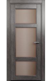 Двери Статус 542 Дуб патина стекло Сатинато бронза