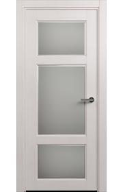 Двери Статус 542Ф Дуб белый стекло Фацет