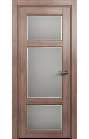 Двери Статус 542Ф Дуб капучино стекло Фацет