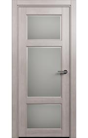 Двери Статус 542Ф Дуб серый стекло Фацет