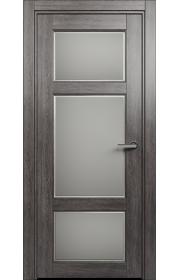 Двери Статус 542Ф Дуб патина стекло Фацет