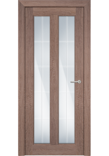 Двери Статус 612 Дуб капучино стекло Английская решетка